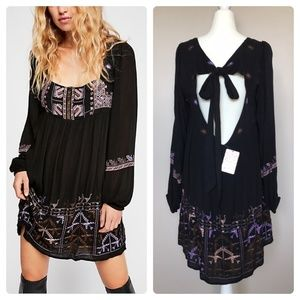 FREE PEOPLE Rhiannon Embroidered Mini Dress NWT